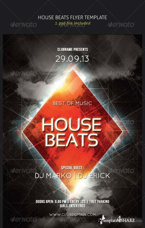 GraphicRiver House Beats Flyer Template