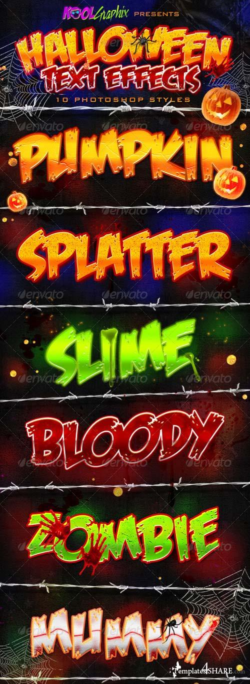 GraphicRiver Halloween Text Effects - PS Styles