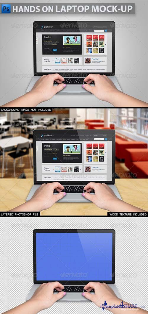 GraphicRiver Hands on Laptop Mock-up 2