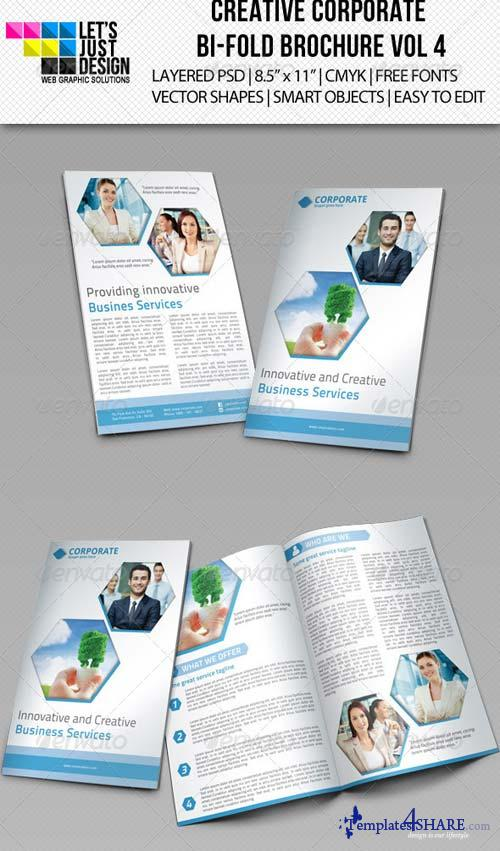 GraphicRiver Creative Corporate Bi-Fold Brochure Vol 4