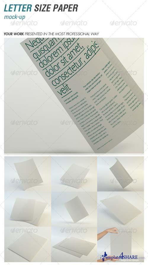 GraphicRiver Letter Paper Mock-Up