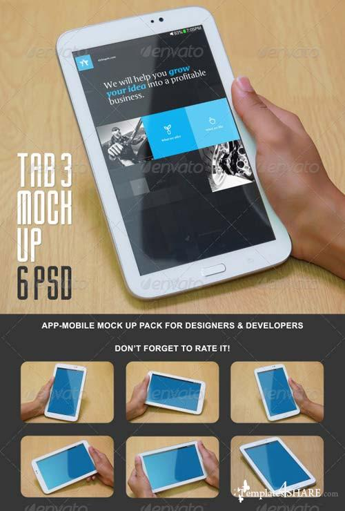 GraphicRiver Tab 3 Mock Up Pack