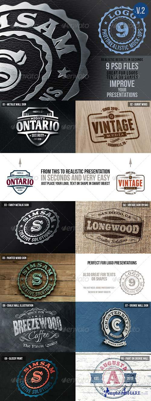 GraphicRiver Photorealistic Logo Mock-Ups Vol.2