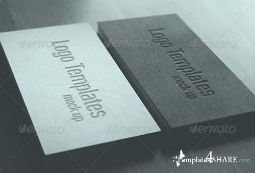 GraphicRiver Photorealistic business card and logo mock-up