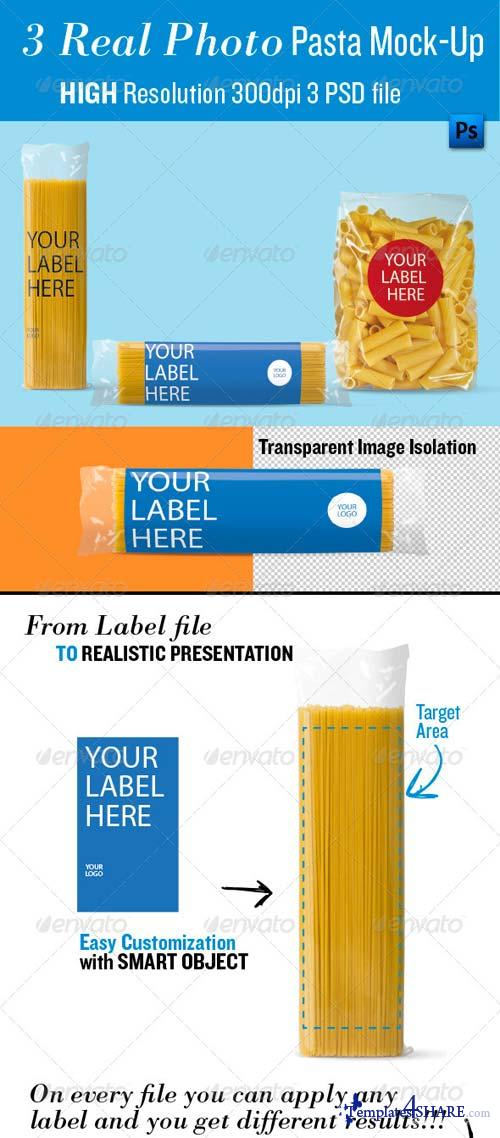 GraphicRiver Pasta Mock-Up, Real Photo