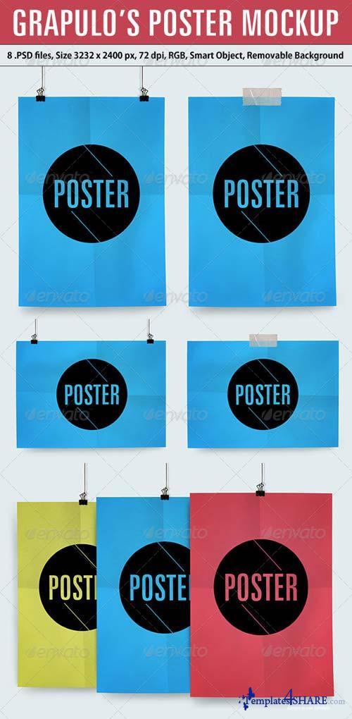 GraphicRiver Grapulo's Poster Mockup