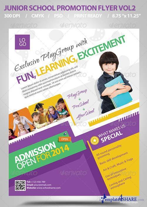 GraphicRiver Junior School Promotion Flyers Vol2