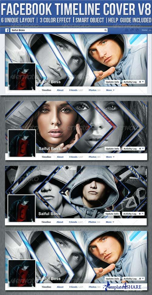 GraphicRiver FB Timeline Cover V8