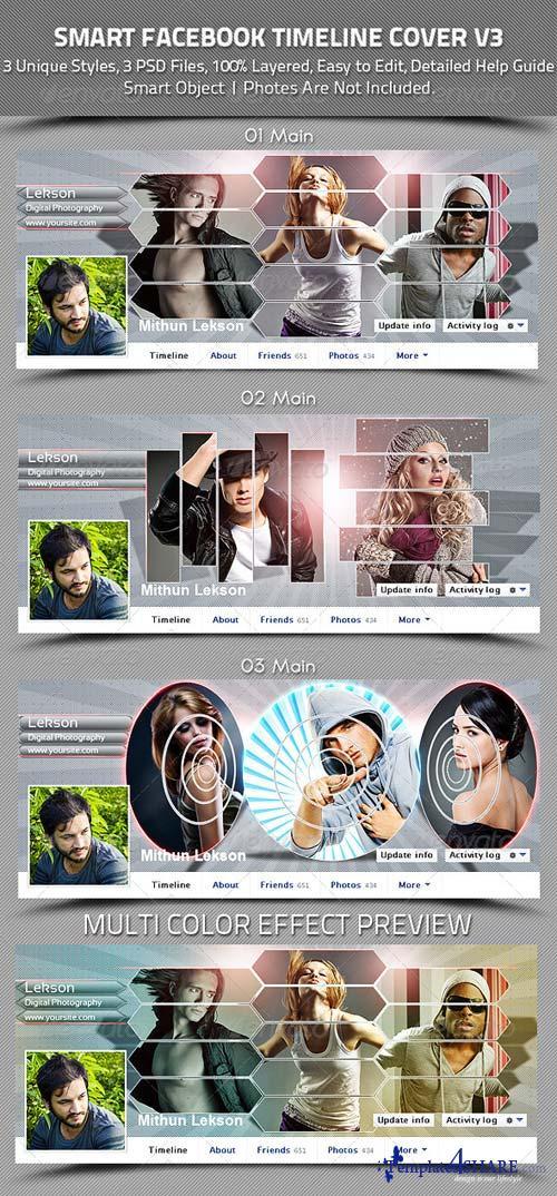 GraphicRiver Smart Facebook Timeline Cover V3