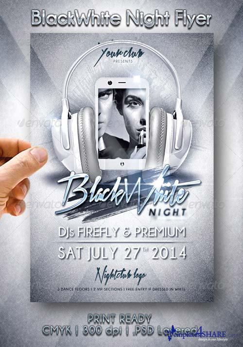 GraphicRiver BlackWhite Night Flyer