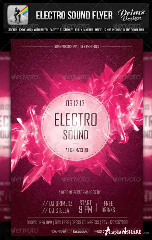 GraphicRiver Electro Sound Flyer