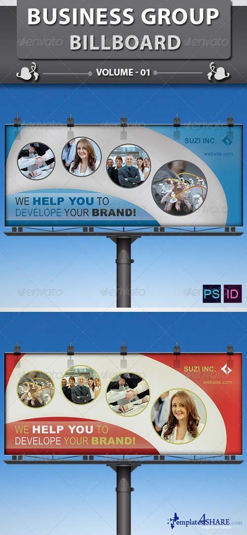 GraphicRiver Business Group Billboard v1