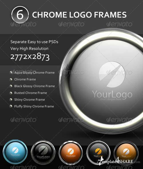 GraphicRiver 6 Chrome Logo Frame Mockups