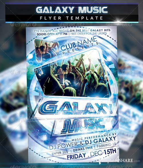 Attractive GraphicRiver Galaxy Music Party Flyer Template