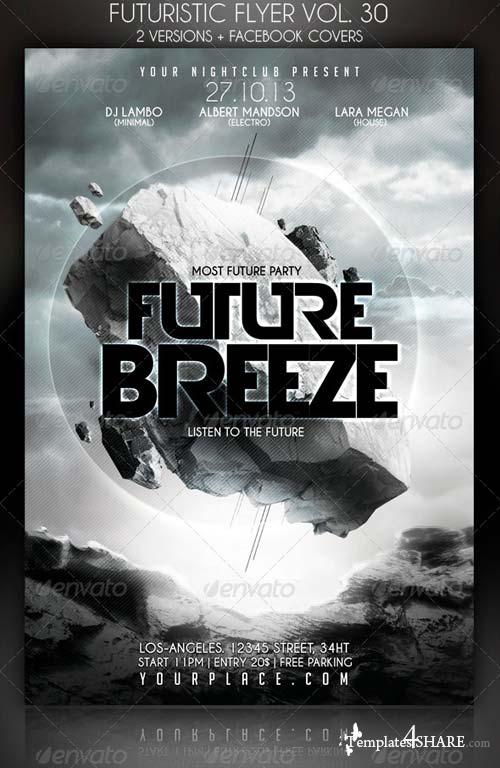 GraphicRiver Futuristic Flyer Vol. 30