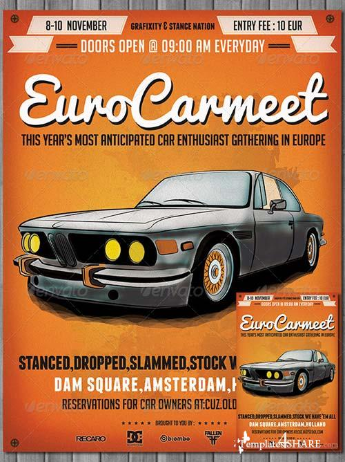 GraphicRiver Retro Car Meeting Poster / Flyer III