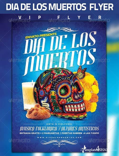 GraphicRiver Dia De Los Muertos Flyer