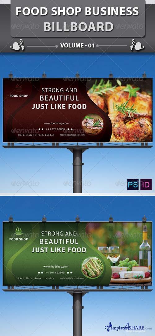 GraphicRiver Food Shop Business Billboard v1