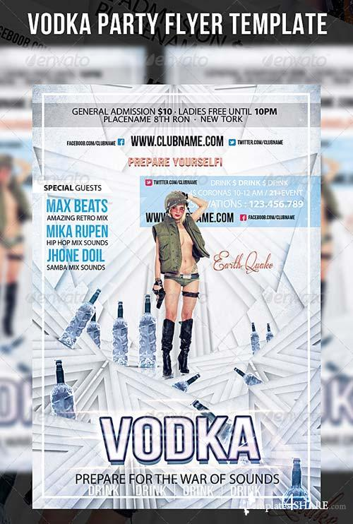 GraphicRiver Vodka Party Flyer Template