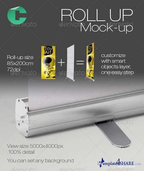 GraphicRiver Roll Up Mock-up