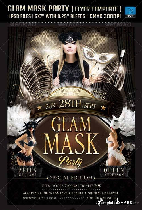 GraphicRiver Glam Mask Party Flyer Template