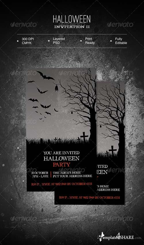 GraphicRiver Halloween Invitation II