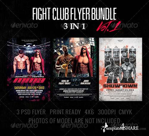 GraphicRiver 3 in 1 - Fight Club Flyer Bundle Vol.1
