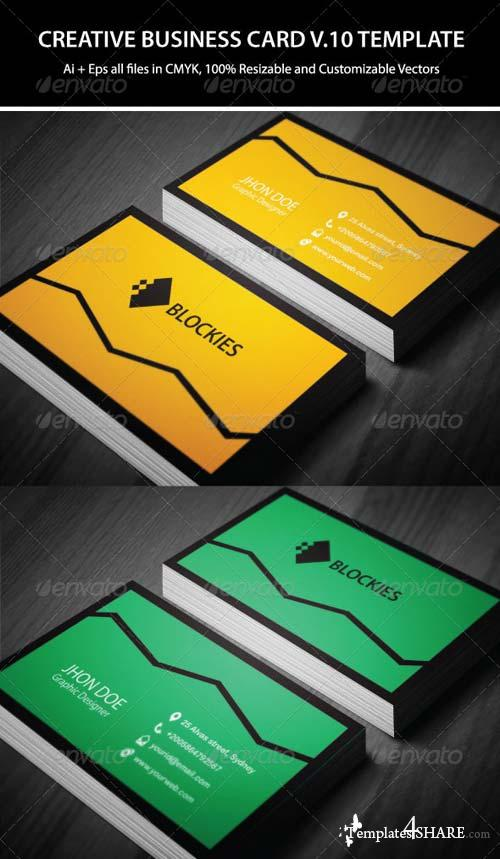 GraphicRiver 3 Colors Creative Business Card Template