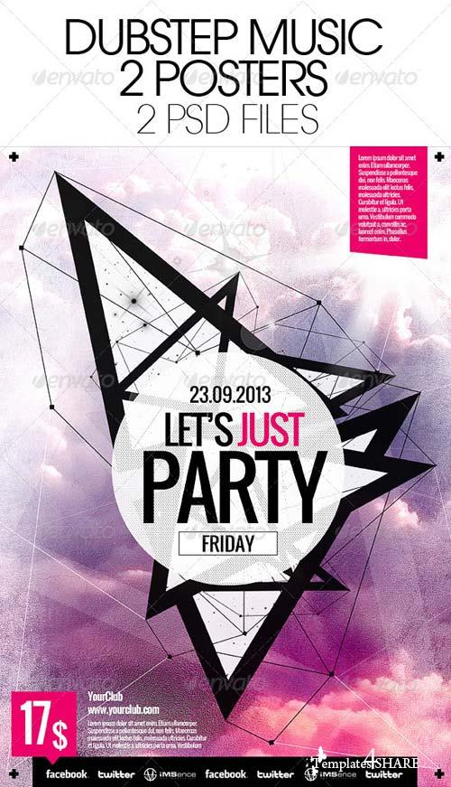GraphicRiver Dubstep Music Party Poster