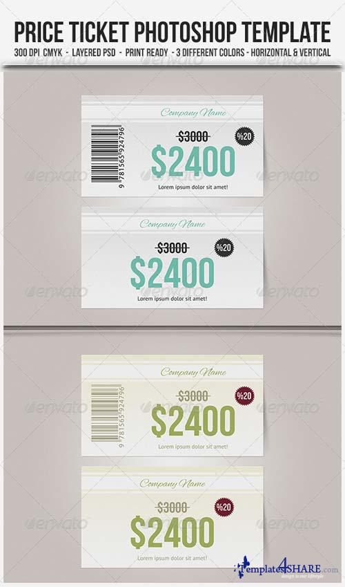 GraphicRiver Price Ticket - Photoshop Template