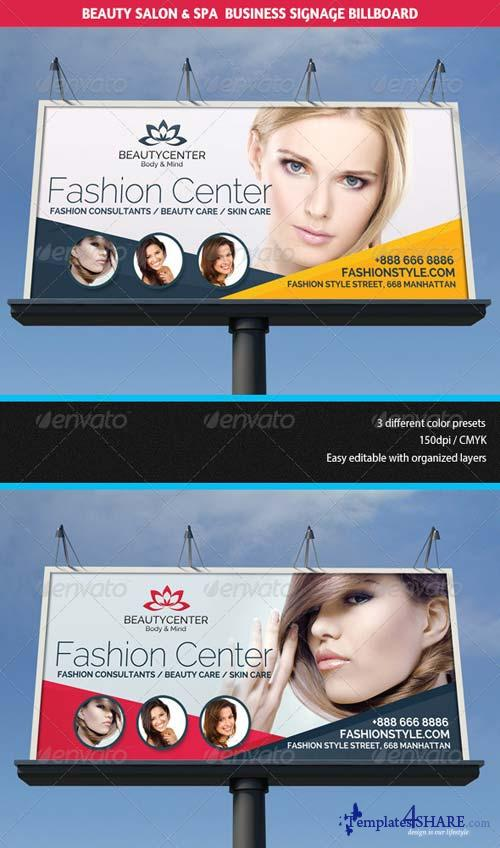 GraphicRiver Beauty Center & Spa Business Billboard