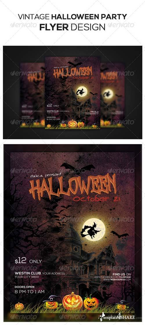 GraphicRiver Halloween Flyer Design