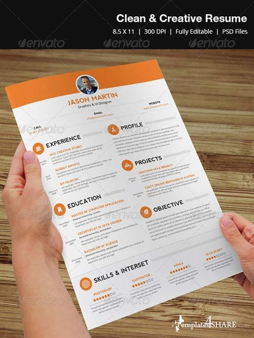 GraphicRiver Clean & Creative Resume