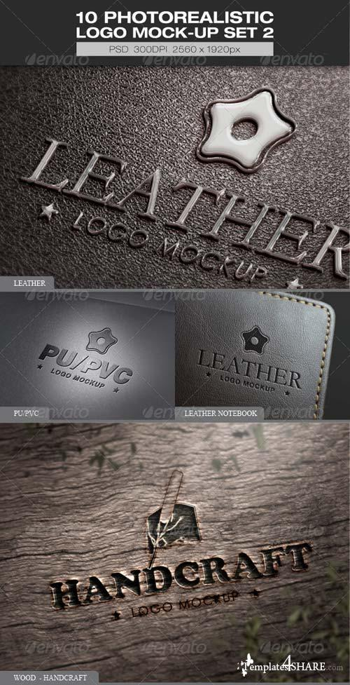 GraphicRiver 10 Photorealistic Logo Mock-up Set 2