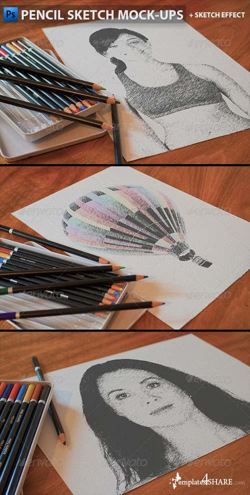 GraphicRiver Pencil Sketch Mock-Ups
