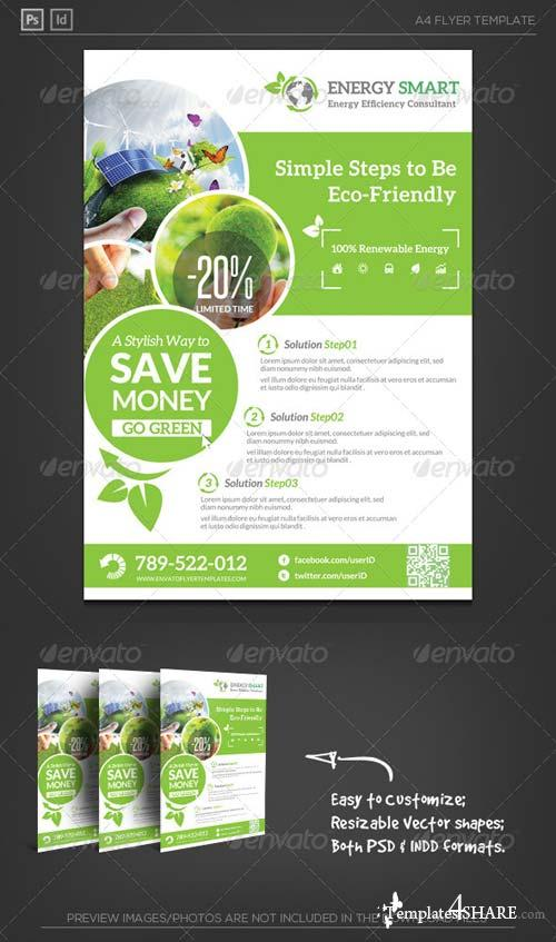 GraphicRiver Renewable Energy Saving Flyer