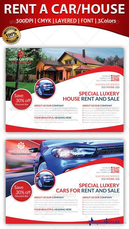 GraphicRiver Rent A House And Car Flyer Template