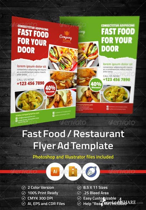 GraphicRiver Fast Food / Restaurant Flyer Ad Template