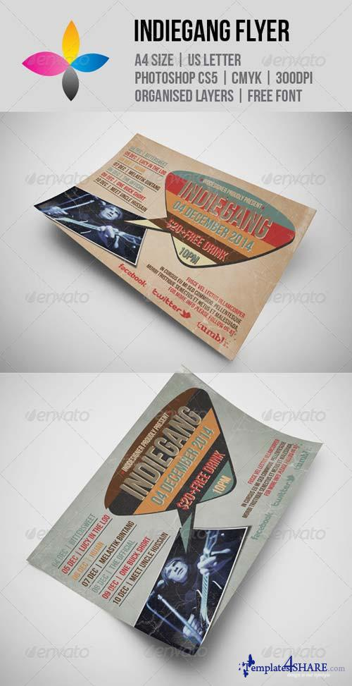 GraphicRiver Indie Gang Flyer