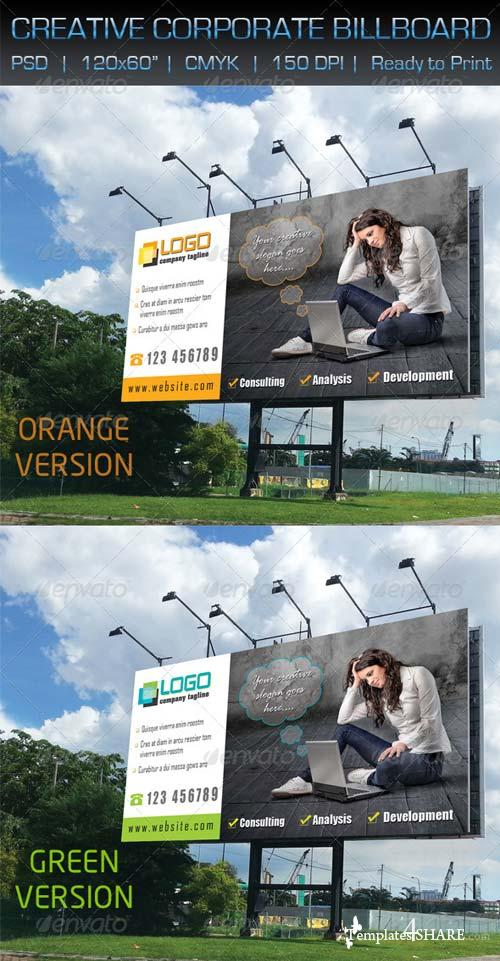 GraphicRiver Creative Corporate Billboard Signage