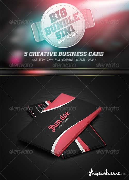 GraphicRiver Creative Business Card Big Bundel 5in1