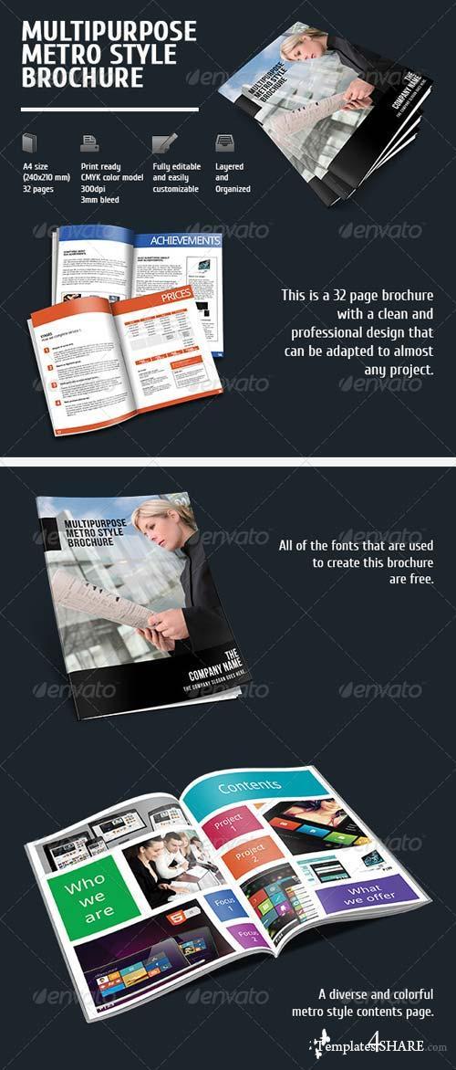 GraphicRiver Metro Style Brochure