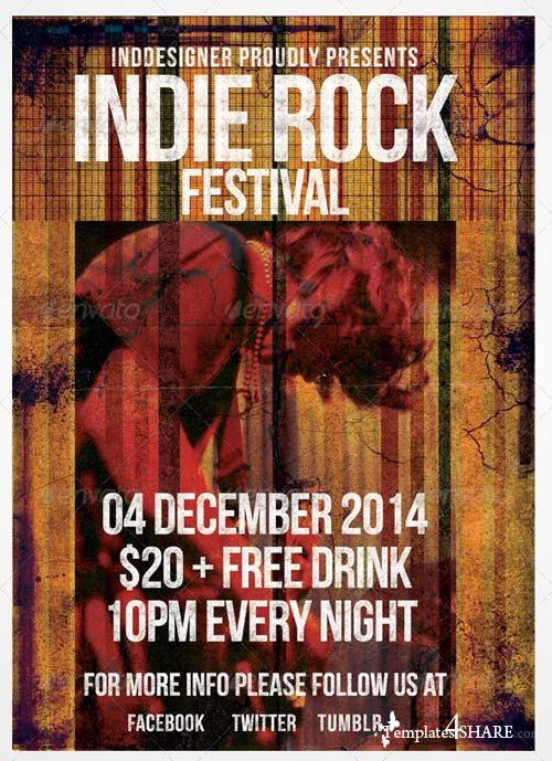 GraphicRiver Indie Rock Flyer