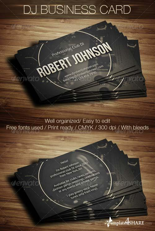 GraphicRiver DJ Business Card