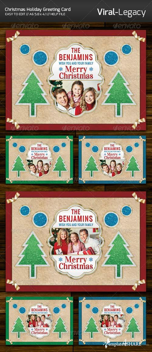 GraphicRiver Christmas Holiday Greeting Card
