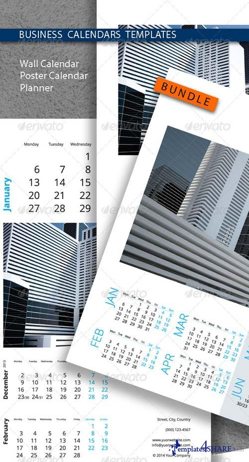 GraphicRiver Business Calendars Templates Bundle