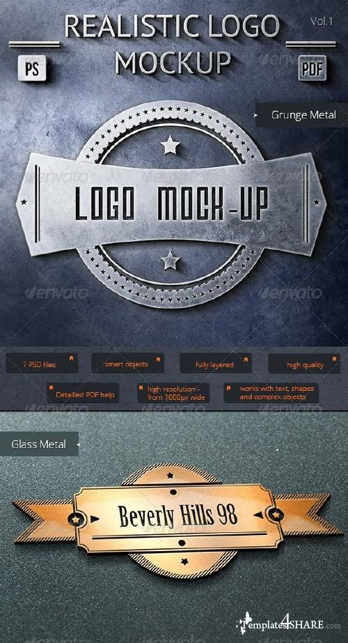 GraphicRiver 7 Realistic Logo Mock-Up Vol.1