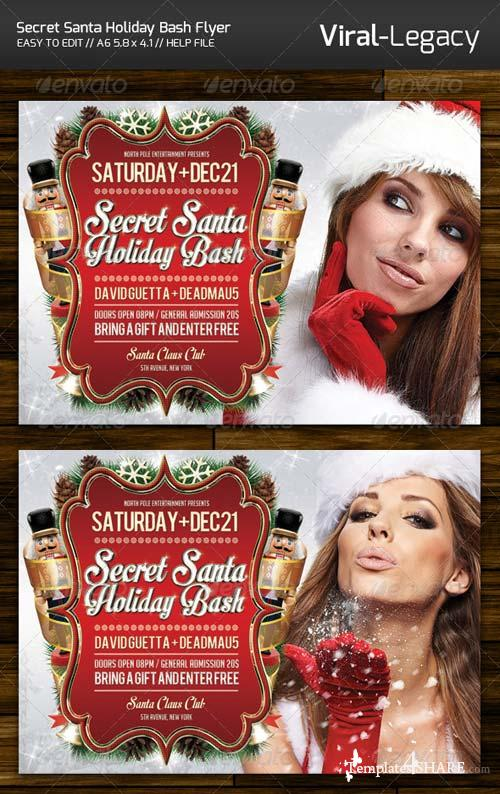 GraphicRiver Secret Santa Holiday Bash Flyer