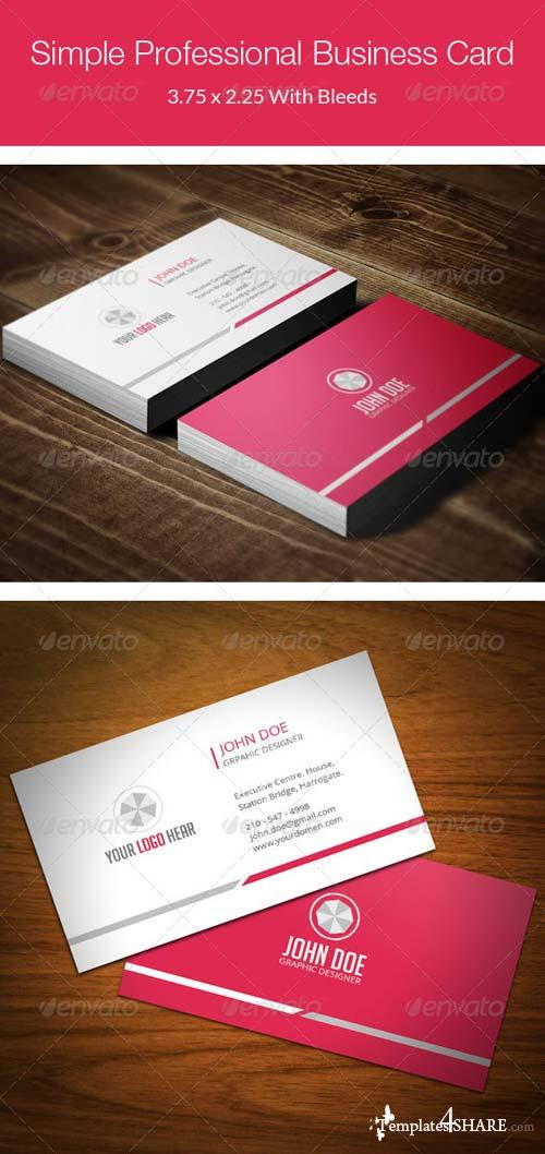 GraphicRiver Simple Professional Business Card - 77