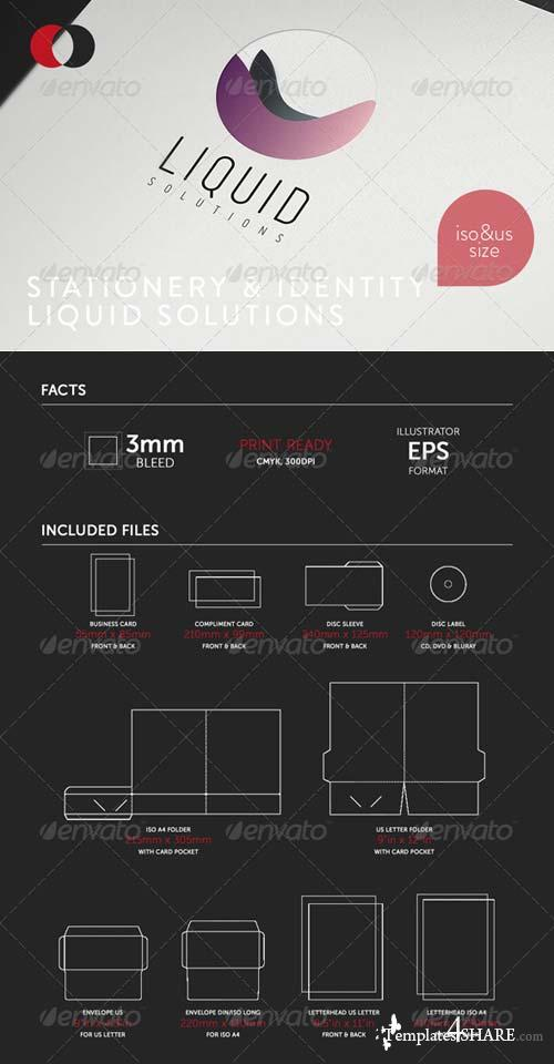 GraphicRiver Stationary & Identity - Liquid Solutions